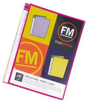FM Display Book Vivid Shocking Pink 20 Pocket Insert Cover