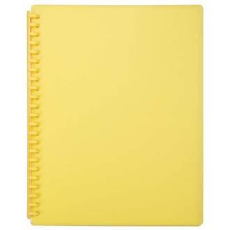 FM Refillable Display Book Yellow 20 Pocket