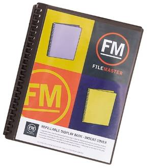 FM Refillable Display Book Black 20 Pocket Insert Cover