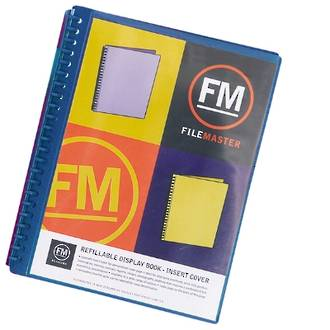 FM Refillable Display Book Blue 20 Pocket Insert Cover