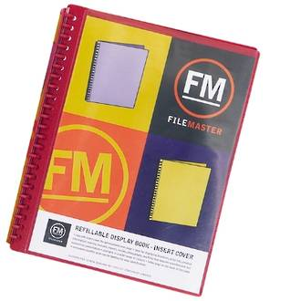 FM Refillable Display Book Red 20 Pocket Insert Cover