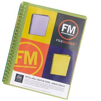 FM Refillable Display Book Vivid Lime Green 20 Pocket Insert Cover
