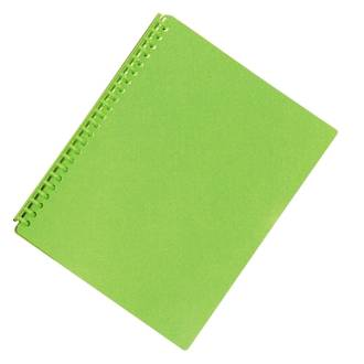FM Refillable Display Book Vivid Lime Green 20 Pocket
