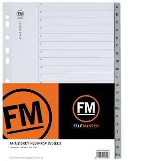 FM Indices A4 A-Z Grey Polyprop
