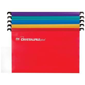 FM Crystalfile Plus PP Suspension Files Foolscap Pk 10