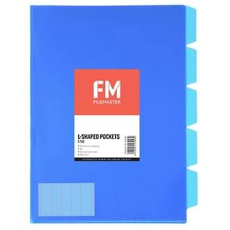FM L Shaped Pocket 5 Tab Blue