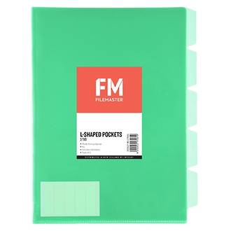 FM L Shaped Pocket 5 Tab Green