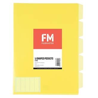 FM L Shaped Pocket 5 Tab Yellow