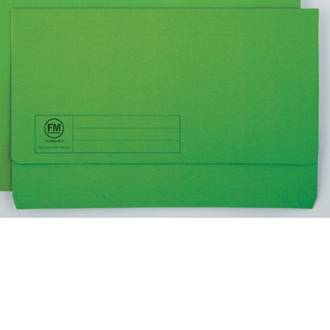 FM Document Wallet Green Foolscap