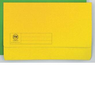 FM Document Wallet Yellow Foolscap