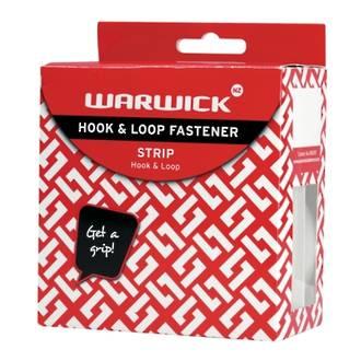 Warwick Hook & Loop Strip 1.8m x 20mm White