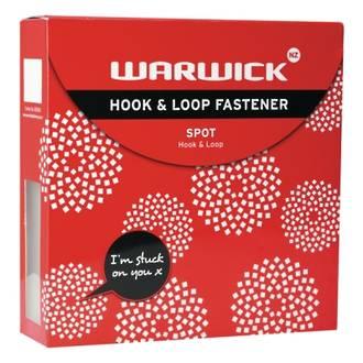 Warwick Hook & Loop Spots 225 White 22mm