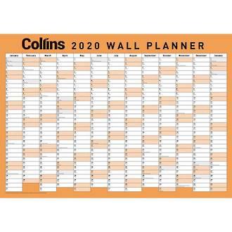 Collins A2 WallPlanner Unlaminated Even Year