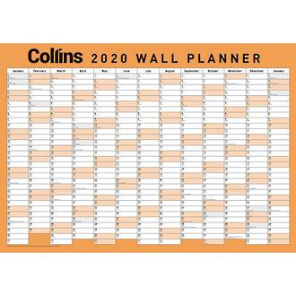 Collins A2 WallPlanner Laminated Even Year