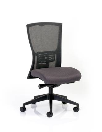 CS Domino Black Seat, Nylon Base, No Arms