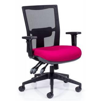 CS Team-Air Heavy Duty Chair 3 Lever Mesh Back, Black Fabric Seat No Arms