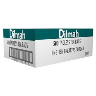 Dilmah English Breakfast Tea Bags Tagless Box 500