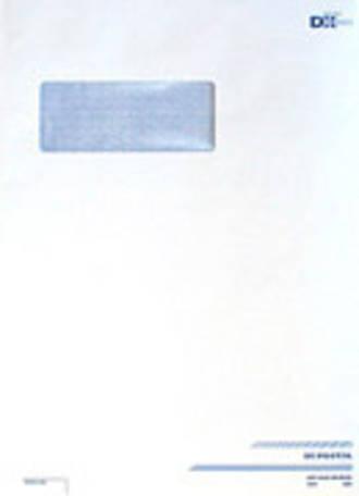 DX Postal Prepaid Envelopes C4/E31 A4 White Window Box 250