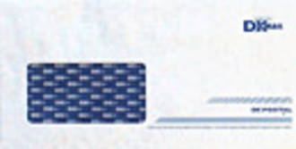DX Postal Prepaid Envelopes DLE White Window Wrap 100