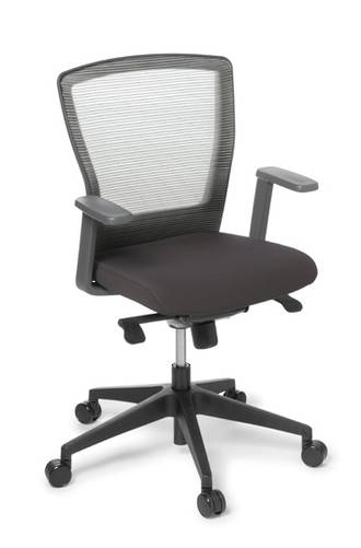 EOS Cloud Meeting Chair Synchro Mesh Back Charcoal Seat