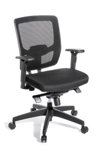 EOS Media Ergo Chair Synchro Mesh Back Black Seat