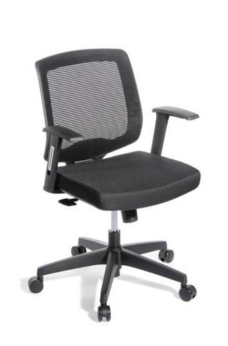 EOS Media Meeting Chair Synchro Mesh Back Black Seat