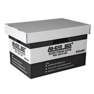 Esselte Archive Box Cardboard w. Sep. Lid suit Suspension Files