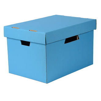 Esselte Archive Box Cardboard w. Sep. Lid suit Suspension Files Blue