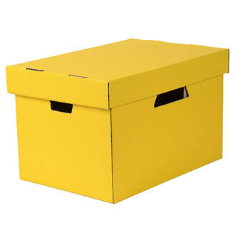 Esselte Archive Box Cardboard w. Sep. Lid suit Suspension Files Yellow