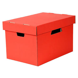 Esselte Archive Box Cardboard w. Sep. Lid suit Suspension Files Red