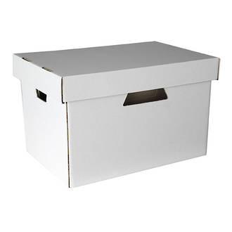 Esselte Archive Box Cardboard w. Sep. Lid suit Suspension Files White