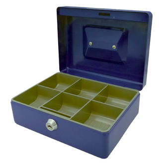Esselte Cash Box Classic No.8 Blue or Black