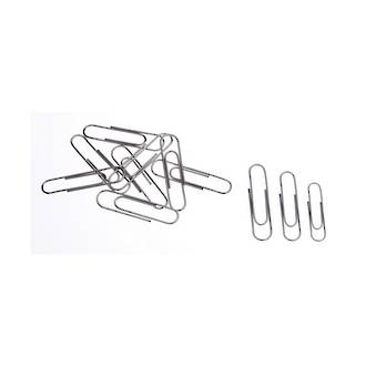 Esselte Paper Clips 33mm Large Round Silver Box 100