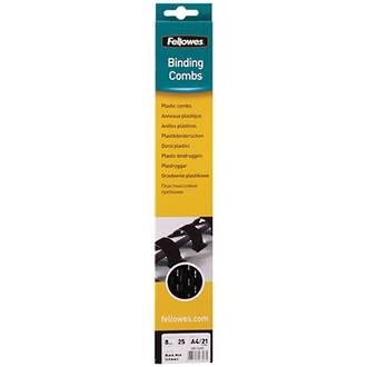 Fellowes Binding Coil 8mm Black 25