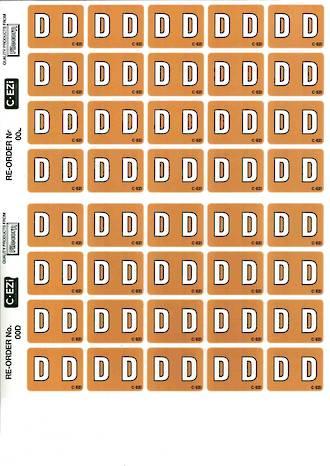 C Ezi Alphabetic Labels D