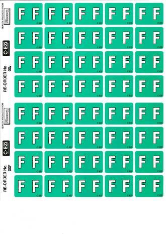 C Ezi Alphabetic Labels F