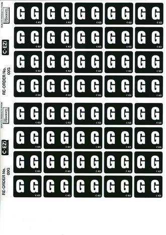 C Ezi Alphabetic Labels G