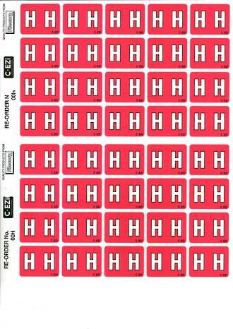 C Ezi Alphabetic Labels H