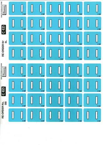 C Ezi Alphabetic Labels I