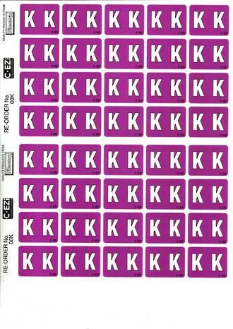 C Ezi Alphabetic Labels K