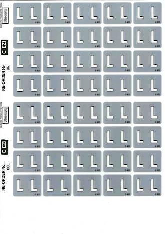 C Ezi Alphabetic Labels L