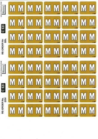 C Ezi Alphabetic Labels M