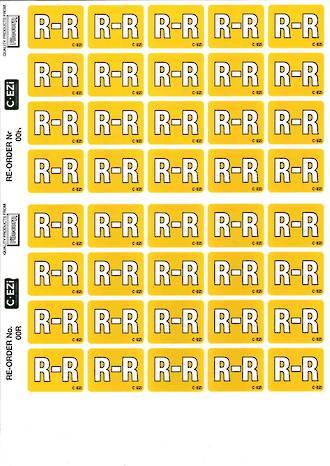 C Ezi Alphabetic Labels R