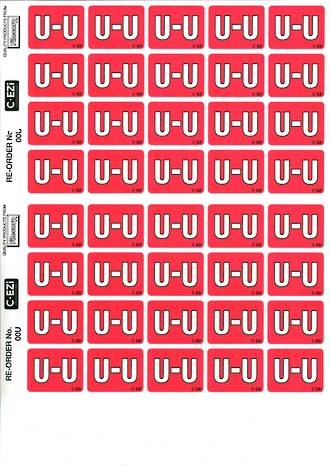C Ezi Alphabetic Labels U