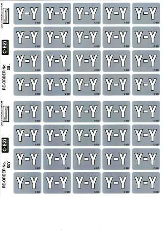 C Ezi Alphabetic Labels Y