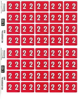 C Ezi Numeric Labels 2