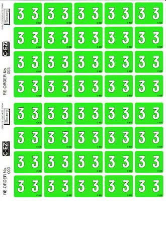 C Ezi Numeric Labels 3