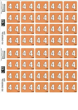 C Ezi Numeric Labels 4
