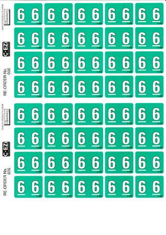 C Ezi Numeric Labels 6