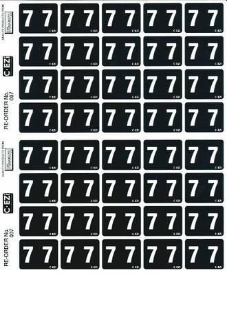 C Ezi Numeric Labels 7